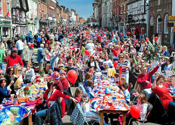 Street party for the Queen's Jubilee